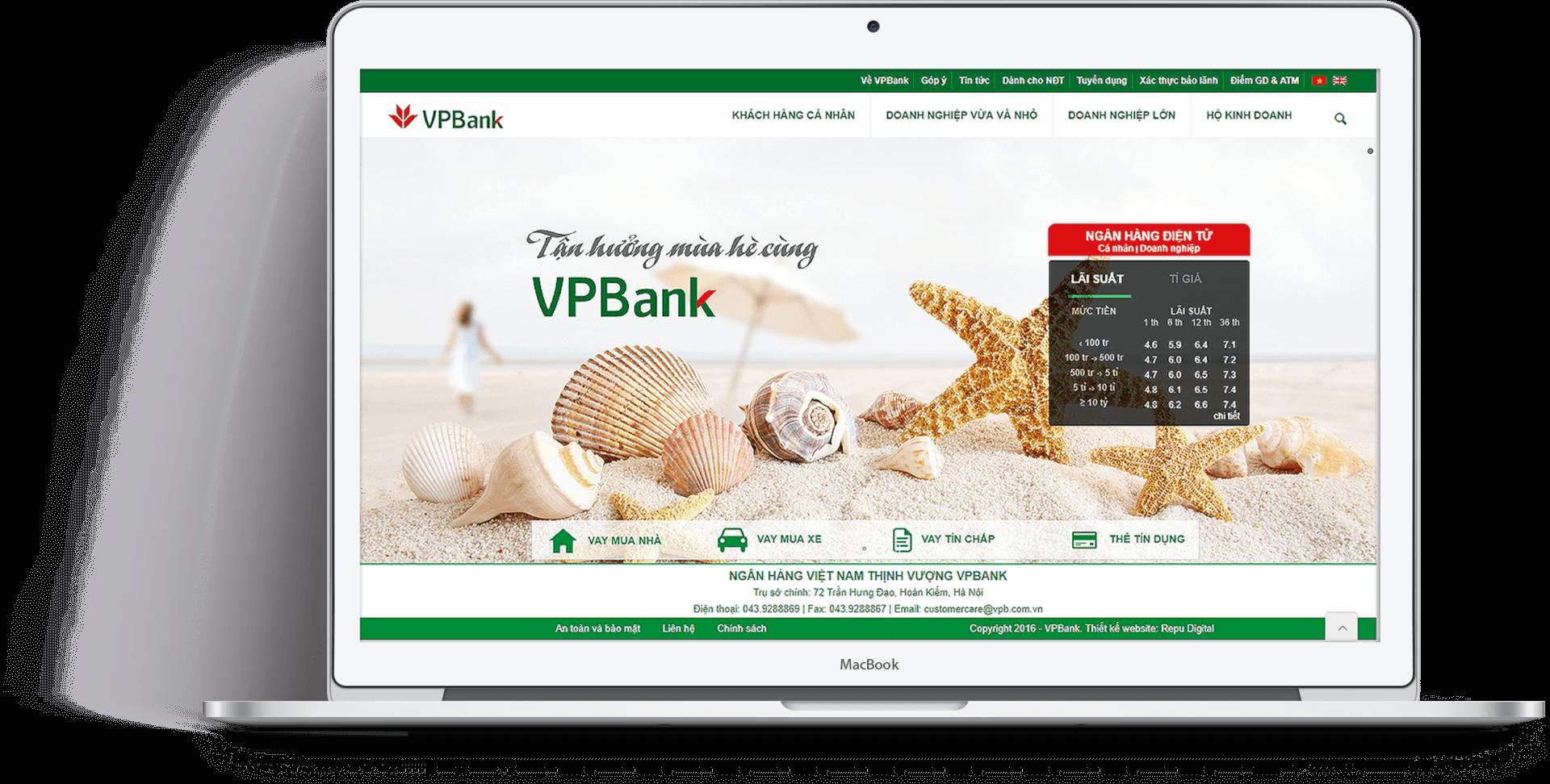 Repu thiết kế website tối ưu Sales - SEO - Marketing cho ngân hàng VPBank