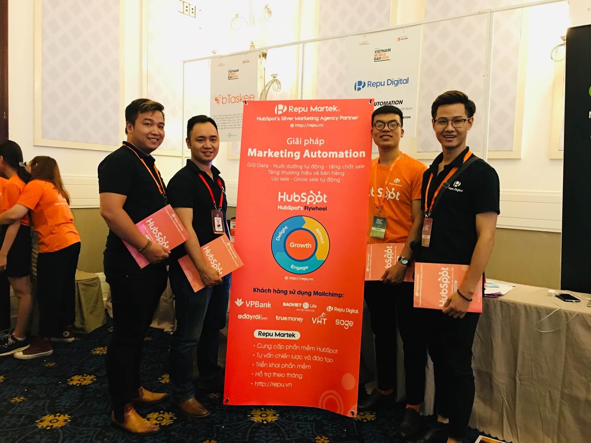Repu mang HubSpot và Mailchimp tới Vietnam Mobile Day 2019 tại HCM
