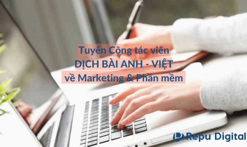Tuyển Cộng tác viên Dịch Anh-Việt