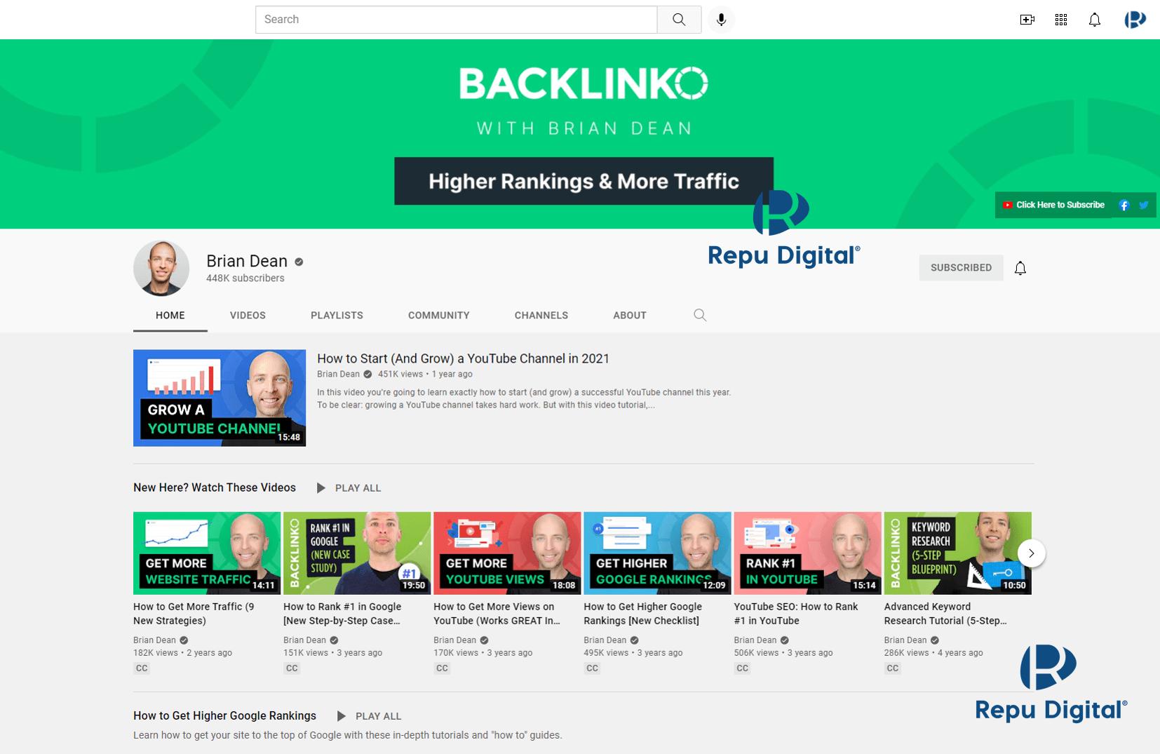 Brian Dean & Backlino - kênh YouTube học Digital Marketing miễn phí