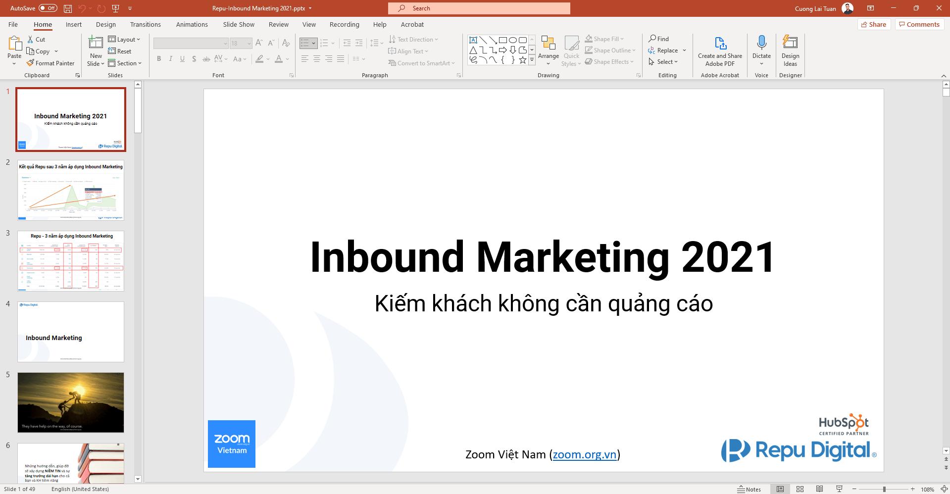 Slide Marketing khóa học Online bằng Inbound Marketing Automation